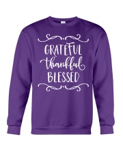 GRATEFUL THANKFUL BLESSED Crewneck Sweatshirt thumbnail