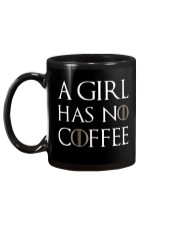 A Girl Has No Coffee Black Mug back
