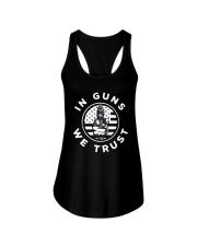 IN GUNS WE TRUST Ladies Flowy Tank thumbnail