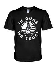 IN GUNS WE TRUST V-Neck T-Shirt thumbnail