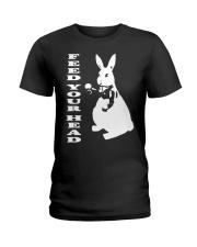 Inspired White Rabbit Alice In Wonderland Hippy Te Ladies T-Shirt thumbnail