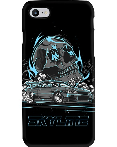 R34 BURNOUT BLUE PHONE CASE