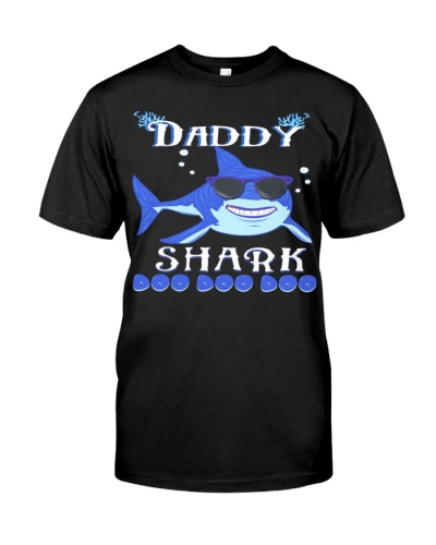 Daddy Shark Doo Doo Doo 1 Father Shirt Papa Tee Da