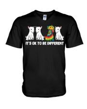 Its Ok To Be Different Goats Lover Goat Shirt Farm V-Neck T-Shirt thumbnail
