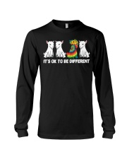 Its Ok To Be Different Goats Lover Goat Shirt Farm Long Sleeve Tee thumbnail