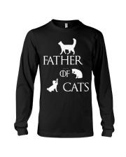 Father Of Cats Dad Tshirt Fatherday Shirt Papa Tee Long Sleeve Tee thumbnail