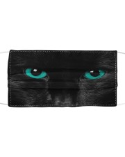 Black Cat Cloth face mask front