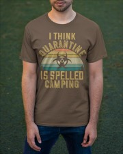i think quarantine is spelled camping Classic T-Shirt apparel-classic-tshirt-lifestyle-front-42