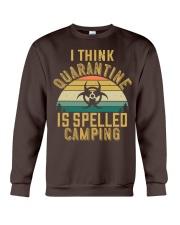 i think quarantine is spelled camping Crewneck Sweatshirt thumbnail