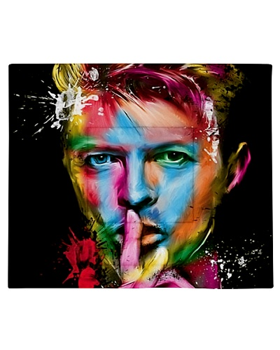 Fleece Blanket David Bowie Colourful Psychedelic