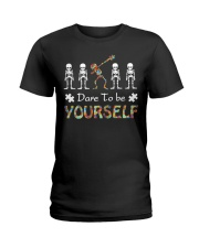 Autism dare to be yourself Tshirt Ladies T-Shirt thumbnail