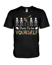 Autism dare to be yourself Tshirt V-Neck T-Shirt thumbnail