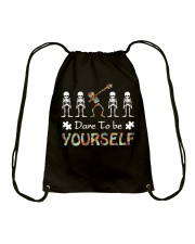 Autism dare to be yourself Tshirt Drawstring Bag thumbnail