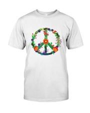 Hippie flower peace Classic T-Shirt front