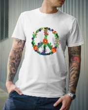 Hippie flower peace Classic T-Shirt lifestyle-mens-crewneck-front-6