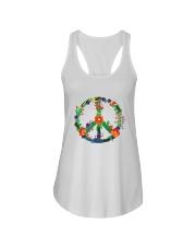 Hippie flower peace Ladies Flowy Tank thumbnail