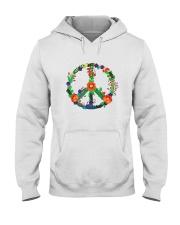 Hippie flower peace Hooded Sweatshirt thumbnail