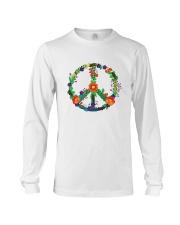 Hippie flower peace Long Sleeve Tee thumbnail