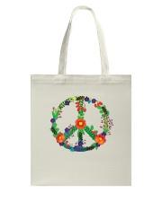 Hippie flower peace Tote Bag thumbnail
