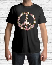 Peace Hippie flower Classic T-Shirt lifestyle-mens-crewneck-front-1