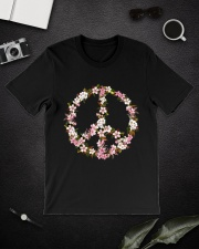 Peace Hippie flower Classic T-Shirt lifestyle-mens-crewneck-front-16