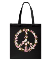 Peace Hippie flower Tote Bag thumbnail