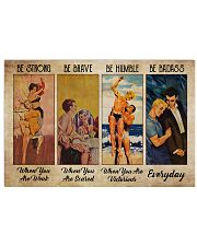 Poster LGBT be strong everyday 36x24 Poster front