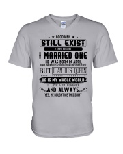 April married one V-Neck T-Shirt thumbnail