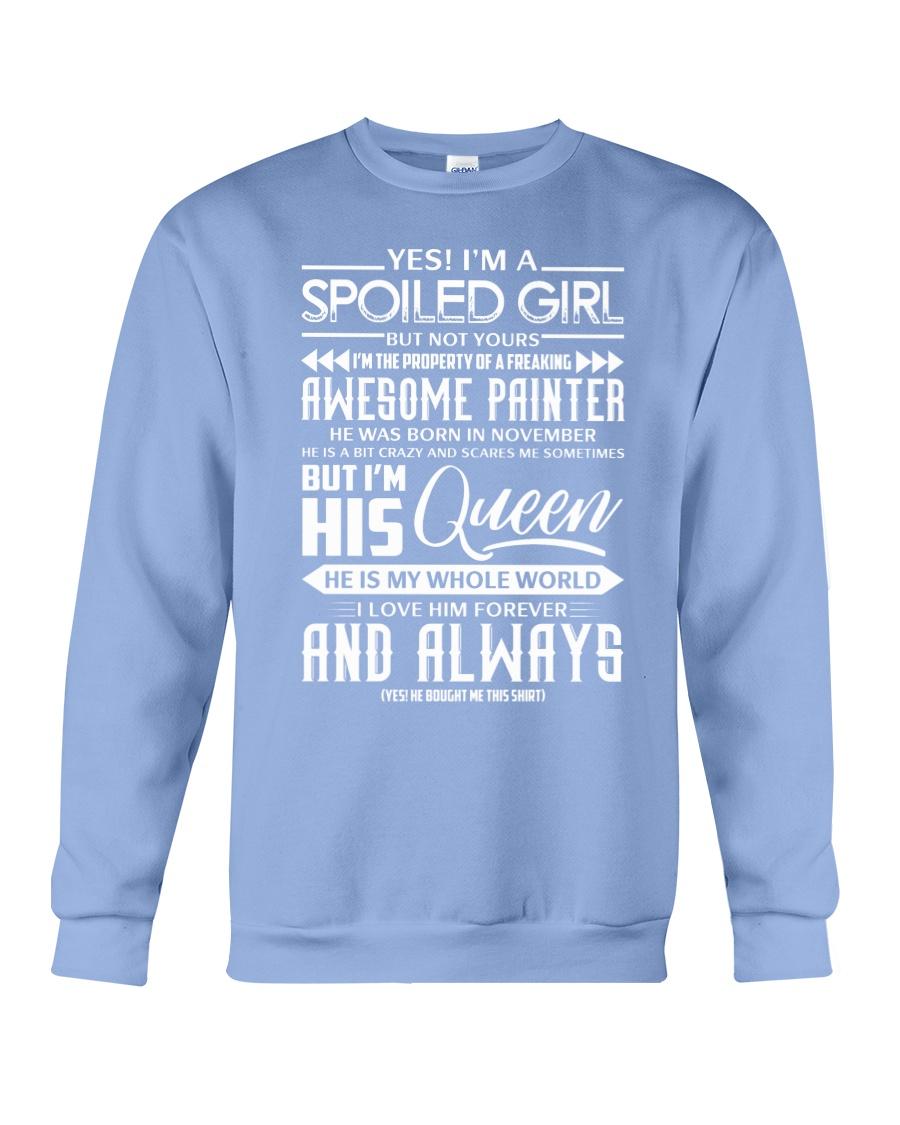 November Painter girl Crewneck Sweatshirt