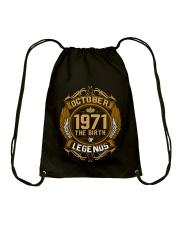 October 1971 The Birth of Legends Drawstring Bag thumbnail