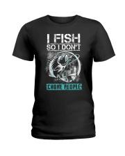 Fishing-choke people Ladies T-Shirt thumbnail