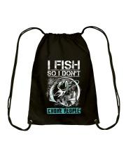 Fishing-choke people Drawstring Bag thumbnail