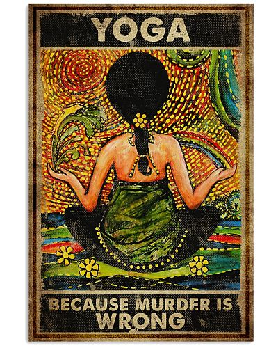 Poster Yoga murder is wrong