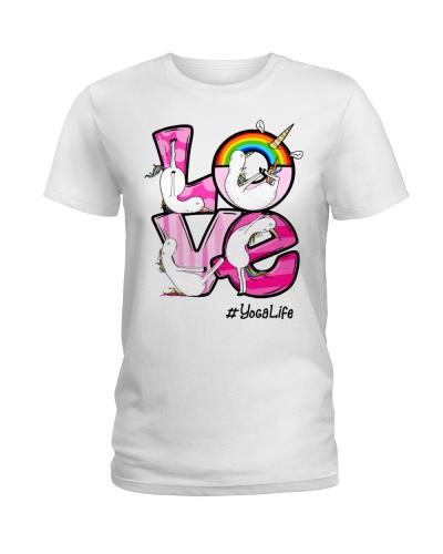 yoga life love unicorn
