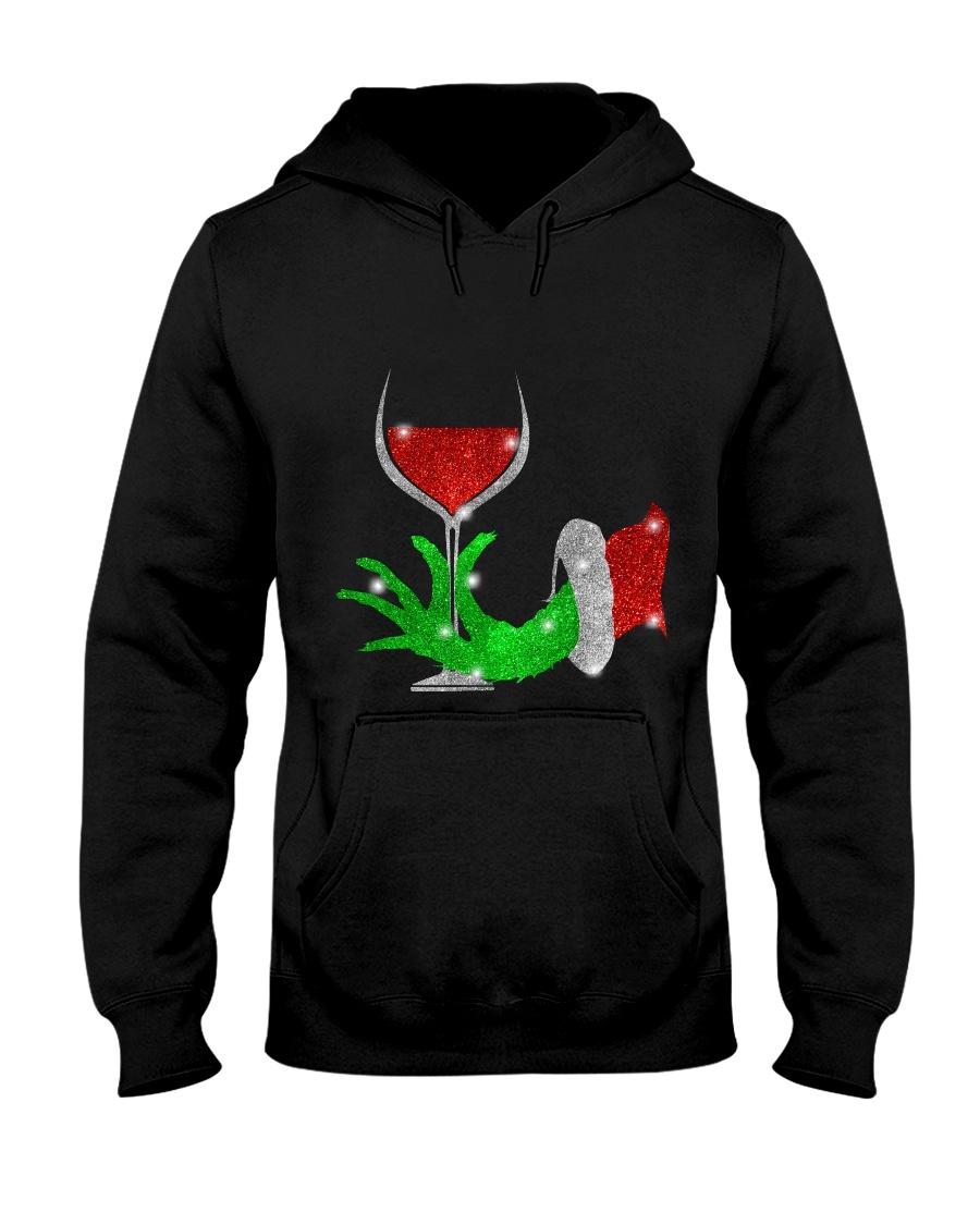 Merry Christmas wine Hooded Sweatshirt