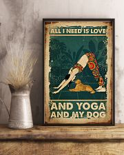 Poster Yoga all i need 24x36 Poster lifestyle-poster-3