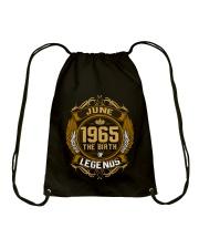June 1965 The Birth of Legends Drawstring Bag thumbnail