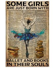 Poster Ballet ballet and book in their soul 24x36 Poster front