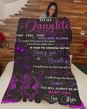 """blanket daughter butterfly Large Fleece Blanket - 60"""" x 80"""" aos-coral-fleece-blanket-60x80-lifestyle-front-04"""