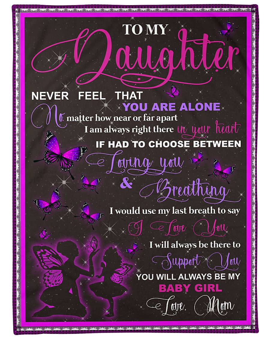 "blanket daughter butterfly Large Fleece Blanket - 60"" x 80"""