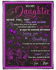 "blanket daughter butterfly Large Fleece Blanket - 60"" x 80"" front"