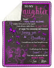 "blanket daughter butterfly Large Sherpa Fleece Blanket - 60"" x 80"" thumbnail"