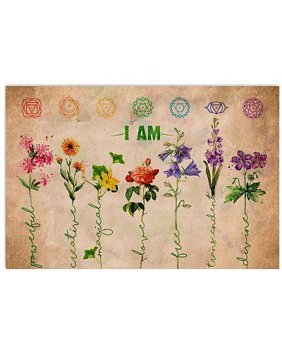 Poster Yoga i am flower