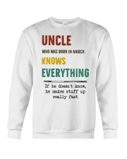 March uncle knows Crewneck Sweatshirt thumbnail