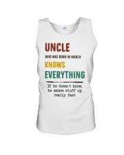 March uncle knows Unisex Tank thumbnail