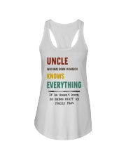 March uncle knows Ladies Flowy Tank thumbnail