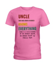 March uncle knows Ladies T-Shirt thumbnail
