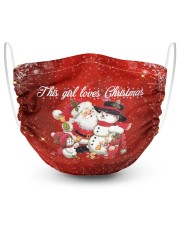 2 Layer Face Mask Christmas This Girl Lover 2 Layer Face Mask - Single front