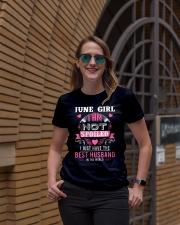 June girl best husband Ladies T-Shirt lifestyle-women-crewneck-front-2