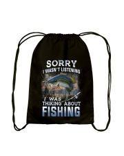 Fishing-thinking about Drawstring Bag thumbnail